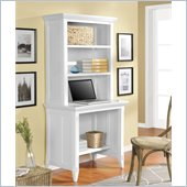 Altra Furniture Amelia Desk with Hutch in White