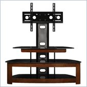 Altra Furniture TV Stand with Mount in Cherry/Black