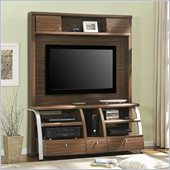 Altra Furniture Essex Home Entertainment Center in Espresso/Silver