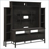 Altra Furniture Wexford Entertainment Center in Espresso and Black