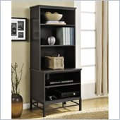 Altra Furniture Wexford Audio Pier in Espresso and Black Finish