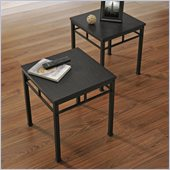 Altra Furniture Wexford End Table Bundle in Espresso and Black Finish (Set of 2)