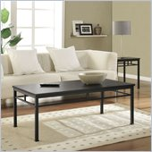 Altra Furniture Wexford Coffee Table in Espresso and Black Finish