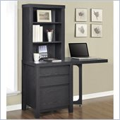 Altra Furniture Storage Tower with Gate leg Side Table in Espresso