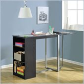 Altra Furniture Bobbi Standing Craft Desk in Espresso Finish