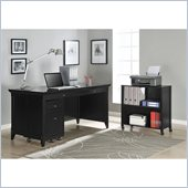 Altra Furniture Amelia Desk with Mobile Storage Cube and File in Black Finish