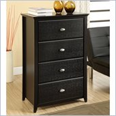 Altra Furniture Chelsea 4 Drawer Storage Chest in Black Finish