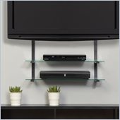 Altra Furniture Quick Mount with 2 glass Shelves in Black Finish