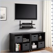 Altra Furniture Quick Mount with 2 HC Shelves in Black Finish