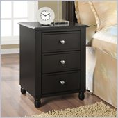 Altra Furniture Winslow End Table with 3 Drawers in Espresso Finish