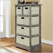 Altra Furniture Storage Unit with 5 Baskets in Gray Finish