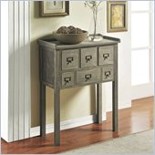 Altra Furniture 6 drawer Accent Console Table in Gray Finish