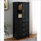 Altra Furniture Chelsea Lingerie Storage Chest in Black Finish