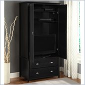 Altra Furniture Chelsea Storage Armoire in Black Finish