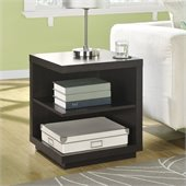 Altra Furniture Hollow Core End Table in Espresso Finish