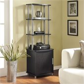 Altra Furniture Carson Audio Pier in Espresso Finish