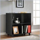 Altra Furniture 4 Cube Mobile Storage in Black Finish