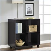 Altra Furniture 4 Cube Mobile Storage in Espresso Finish