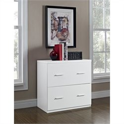 Altra Furniture Princeton 2 Drawer Lateral File Cabinet in White