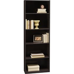 Altra Furniture Core 5-Shelf Bookcase in Black Forest