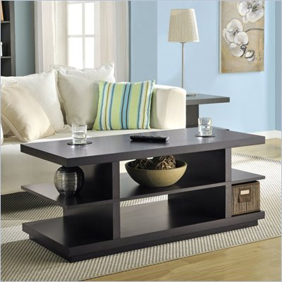 Altra Furniture Hollow Core Coffee Table/TV Stand in Espresso Finish