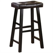 Poundex Country Series  29 Bar Stool in Espresso Finish (Set of 2)