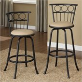 Poundex Eaden Swivel Barstool Adjustable Height (Set of 2)