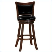 Poundex Marvel 29 Swivel Barstool in Dark Brown