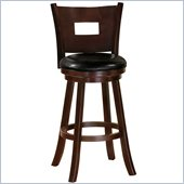 Poundex Baum Swivel Barstool