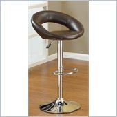 Poundex Swivel Barstool in Faux Leather
