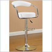Poundex 39 Barstool in White