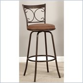 Poundex Adjustable 24 or 29 Swivel Barstool in Dark Champagne