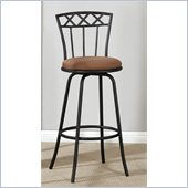 Poundex 24or 29 Adjustable Swivel Barstool in Black