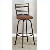 Poundex Adjustable Two-Size Swivel Barstool in Dark Champagne