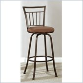 Poundex 24 or 19 Inch Adjustable Swivel Barstool in Dark Champagne
