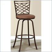 Poundex Adjustable Height Swivel Barstool in Dark Champagne