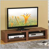 Poundex TV Stand, Walnut