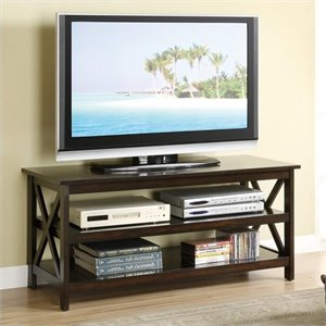 Poundex Simplicity TV Stand in Brown