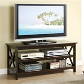 Poundex TV Stand of Simplicity, 200-Pound Capacity in Brown
