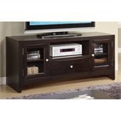 Poundex TV Stand in Dark Brown
