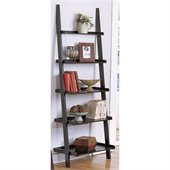 Poundex 5-Tier Wall Shelf in Black