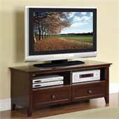Poundex TV Stand in Brown Hue