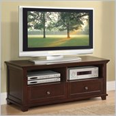 Poundex Two Drawer TV Stand in Brown Hue