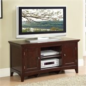 Poundex Double Shelf TV Stand in Brown Hue