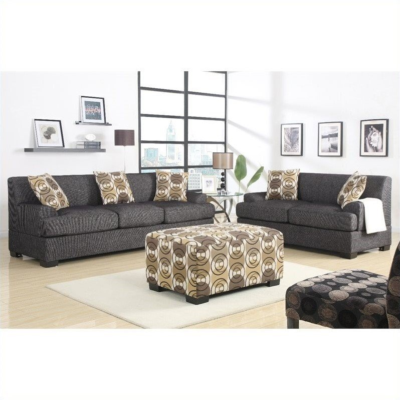 Poundex Benford Faux Linen Sofa And Loveseat In Review