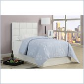 Poundex 45 Cushion Headboard in White