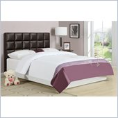 Poundex 45 Twin Cushion Headboard in Brown
