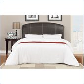 Poundex Queen Headboard Faux Leather in Espresso