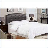Poundex Queen  Faux Leather Headboard in Dark Coffee