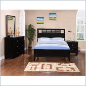 Poundex 4-Piece Youth Full Bedroom Set in Black